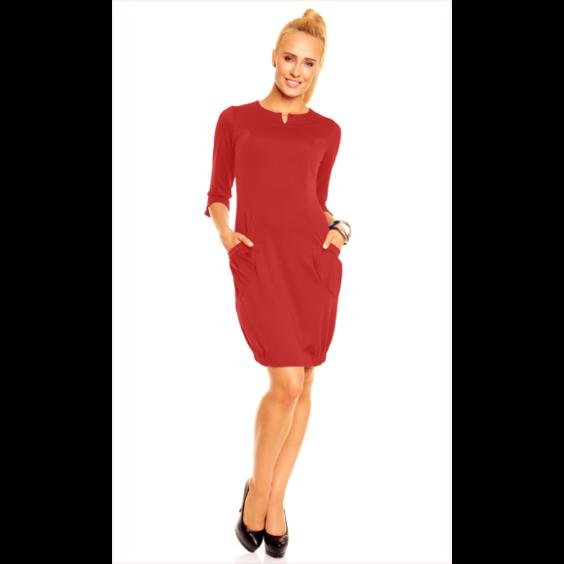 Suknel  raudona1
