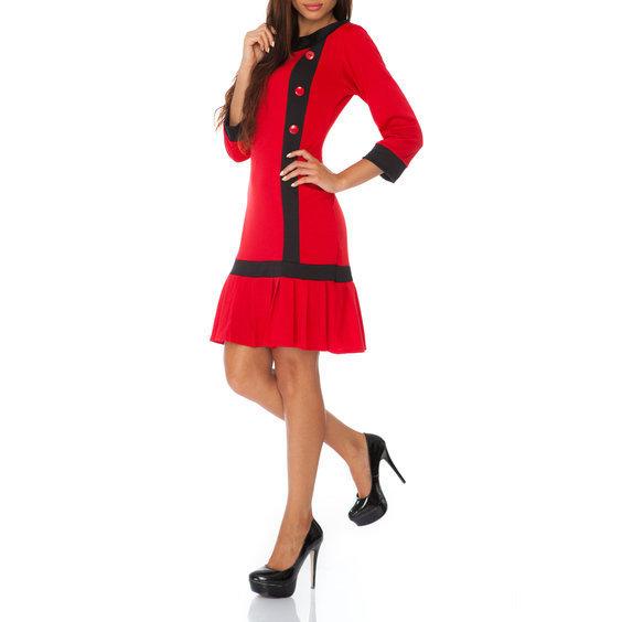 Suknele teniso stiliaus su sagutemis raudonos spalvos