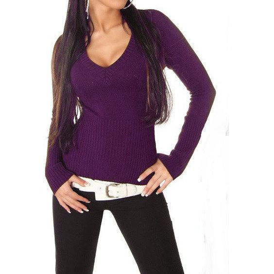 Megztinis violetines spalvos