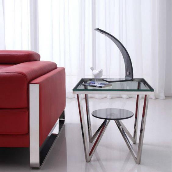 Stiklinis kavos staliukas amelio