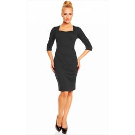 Suknel  klasikine su iskirpte juoda
