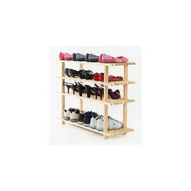 Medinė keturių lentynų batų