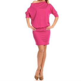 Suknele tamsiai rozines spalvos