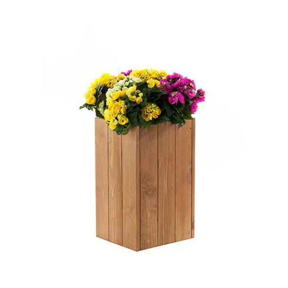 Medinis stovas gėlių vazonams